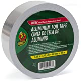 Duck Brand 240225 HVAC Metal Repair Aluminum Foil Tape, 1.88-Inch by 50 Yards, Single Roll, Silver