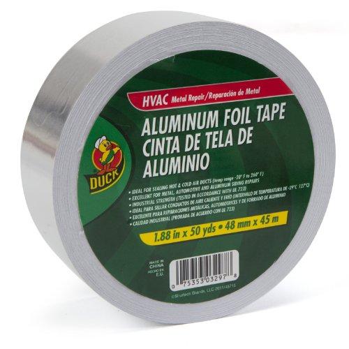 Duck Brand 240225 1.88-Inch by 50-Yard Single Roll Metal Repair Aluminum Foil Tape, Silver