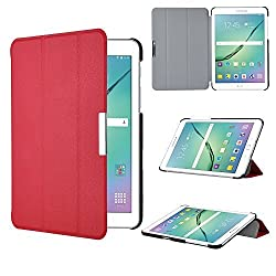 Galaxy Tab S2 8.0 Case, IVSO Samsung Galaxy Tab S2 8.0 Case - Ultra Lightweight Slim Smart Cover Case-(Lifetime warranty)-Will only fit Samsung Tab S2 8.0 Tablet (Red)