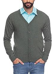 Raymond Men's Woolen Sweater (8907252513413_RMWX00367-N6_40_Green)