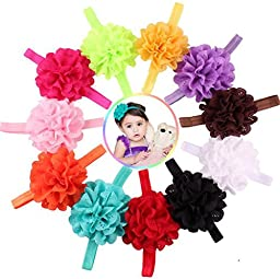 Ms.Gaga Baby Girl Hollow Headband Lace Flower Hair Band Accessories 10PCS