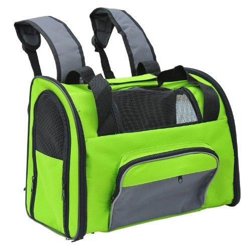 Pawhut Soft Sided Dog Travel Pet Carrier Shoulder Bag Backpack – Green