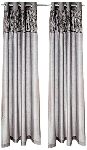 Sweet Potato Swizzle Drapery Panels, Pink/Grey