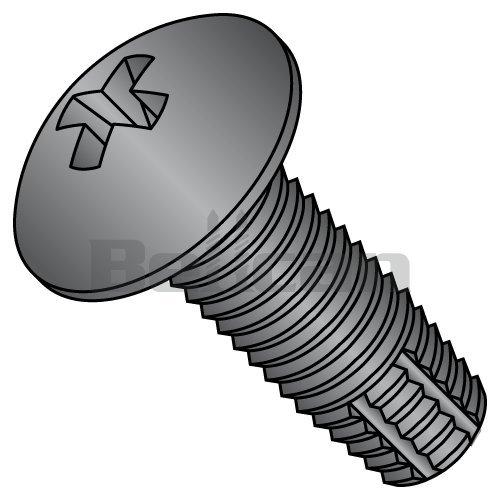 5//16-18 x 1//2 Coarse Thread Thread Cutting Screw Hex Washer Head Type F Low Carbon Steel Zinc Plated Pk 50