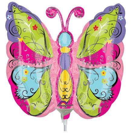 Whimsical Garden Butterfly Mini Shape Anagram Balloons