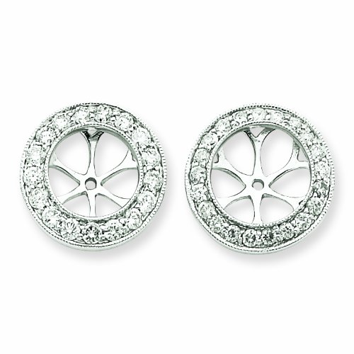 14k WG Diamond Earring Jackets