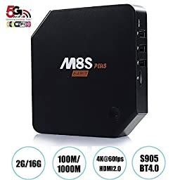 Epteam M8S plus Android TV Box 2G RAM 16G ROM 2.4G/5G Dual Band WIFI S905 Quad core Kodi (15.2) 4K Full Loaded rooted Streaming media player