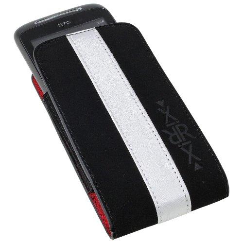 XiRRiX Vertikal Tasche Gummizug schwarz weiss für Telekom T-Com move