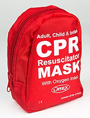 Ever Ready First Aid Adult and Infant CPR Mask Combo Kit with 2 Valves, 1 Count by Everready First Aid