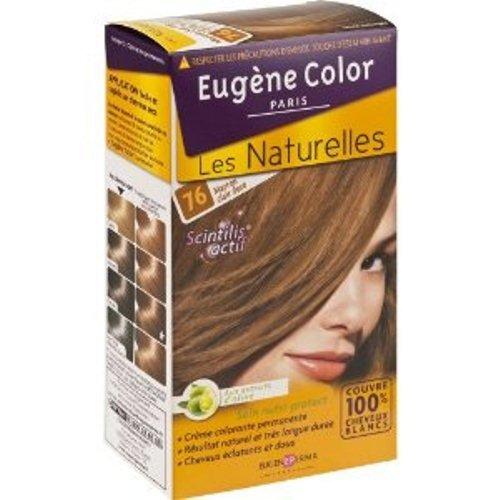 4 eugne color les naturelles n76 marron clair dor crme colorante permanente lot de 2 - Coloration Phmre