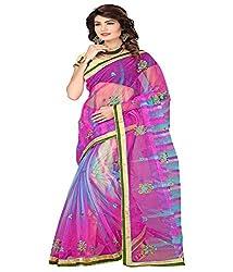 Sanju Fashionable Pink Color Cotton Silk Saree