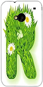 Snoogg Vector Grass Letter Designer Protective Back Case Cover For Htc One M7