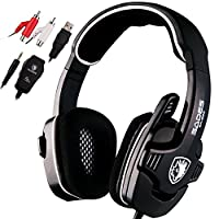 Sades SA922 Surround Sound Gaming Headset Stereo Headphones with Microphone for XBOX 360 / PS3 / PS4 / PC / Computer (Black)