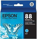 Epson 88 Series DURABrite Ultra Cyan Ink Cartridge (T088220)