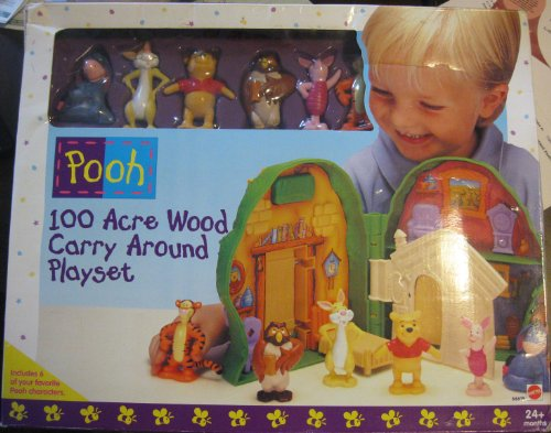 Buy Low Price Mattel WINNIE THE POOH 100 ACRE WOOD CARRY AROUND PLAYSET WITH 6 FIGURES (B005EH26P6)