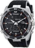 Pulsar Men's PW6009 Analog Display Japanese Quartz Black Watch