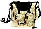 House of Botori Amara Shoulder Diaper Bag, Filigree Sage