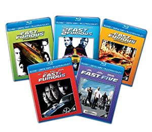 Fast & Furious: 1-5 Bundle [Blu-ray + Digital Copy + UltraViolet]