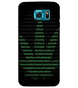 SAMSUNG GALAXY S6 TEXT Back Cover by PRINTSWAG
