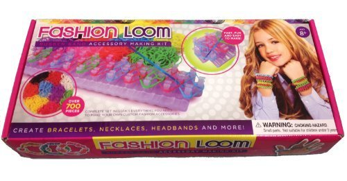Fashion Loom Making Kit - 700 Multi Color Rubber Bands - 30 S Clips and 4 Mm Hook - 1
