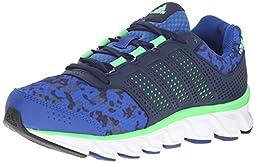 adidas Performance Powerblaze 2 K Running Shoe (Little Kid/Big Kid), Navy Blue/Blue/Green, 2 M US Little Kid