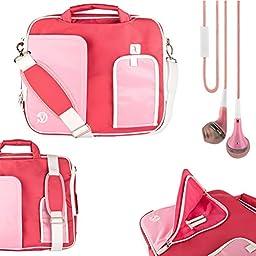 Vangoddy Pindar Shoulder Bag For Lenovo Tab A10 10.1-inch Tablet (A10-70) Miix 3, ThinkPad, IdeaTab, Yoga + Handsfree Earphones