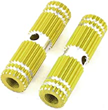 2Pcs Yellow Cylindrical Bike Bicycle Rear Foot Peg Axle Footrest Lever
