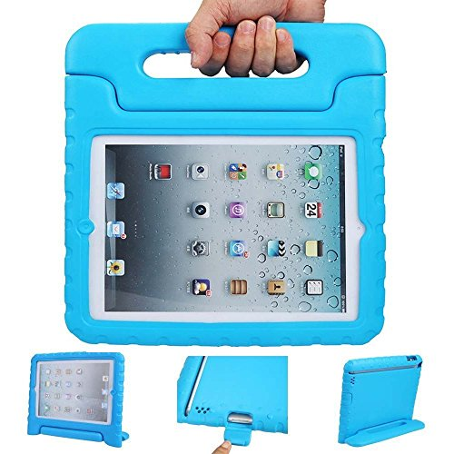 iPad air 2 cases, ANZOL lightweight shockproof cover case with handle stand for kids for Apple iPad air 2(Blue) (Chicken Ipad Mini Case compare prices)