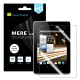 GreatShield Ultra Smooth Clear Screen Protector Film for Acer Iconia A1-810 - LIFETIME WARRANTY (3 Pack)