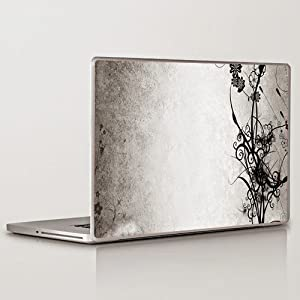 Theskinmantra 2 tone beauty Floral Laptop Skin Decal