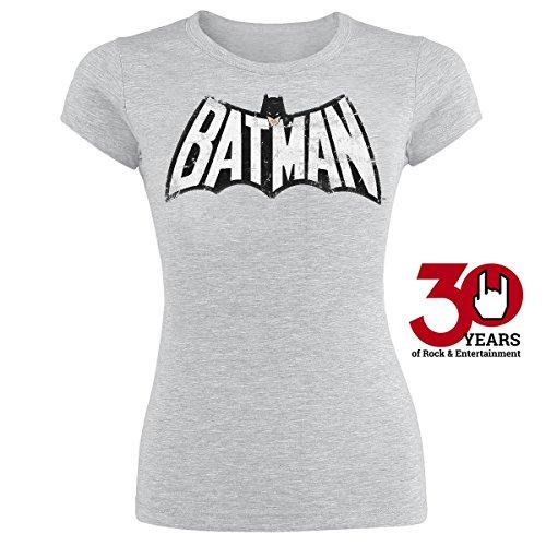Batman Retro Logo Maglia donna grigio sport S