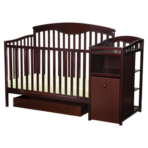Delta Shelby Classic Crib And Changer, Espresso Cherry