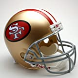 NFL Riddell San Francisco 49ers Gold 1964-1995 Throwback Replica Full-Size Helmet