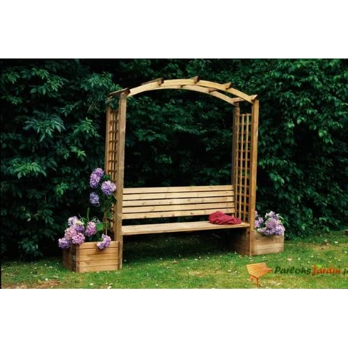 pergola banc en arc en bois alibi. Black Bedroom Furniture Sets. Home Design Ideas