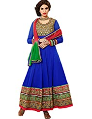 Zohraa Blue Faux Georgette Anarkali Suit TouchZoya1003
