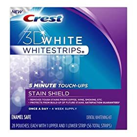 Crest 3D White Whitestrips 5 Minute Touch-Ups With Stain Shield, 28-count Carton