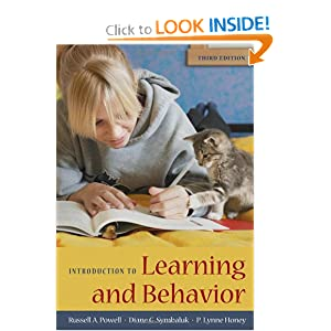Introduction to Learning and Behavior Russell A. Powell, Diane G. Symbaluk and P. Lynne Honey
