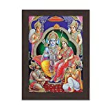 Pick Indiana,Ram Darbar Framed Picture,Worship,Religious Framed Poster Frames Frame Photo Image Wall Decor Home Furnishing Posters