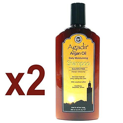 "Agadir Argan Oil Daily Moisturizing Shampoo 12.4oz ""Pack of 2"""