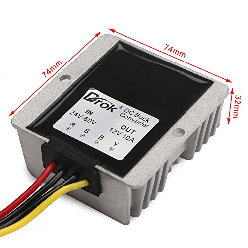 drok 120w 10a dc to dc waterproof club car voltage reducer 24 60v drok 120w 10a dc to dc waterproof club car voltage reducer 24 60v 36v 48v to 12v buck converter step down voltage converter electronics electronics