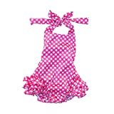 Lisianthus Baby Girls' Ruffles Romper Dress Summer Clothing Dots A Size 12M