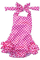Lisianthus Baby Girls' Ruffles Romper Dress Summer Clothing