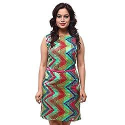 Fbbic Women's Georgette Short Sleeve Dress (Multi)
