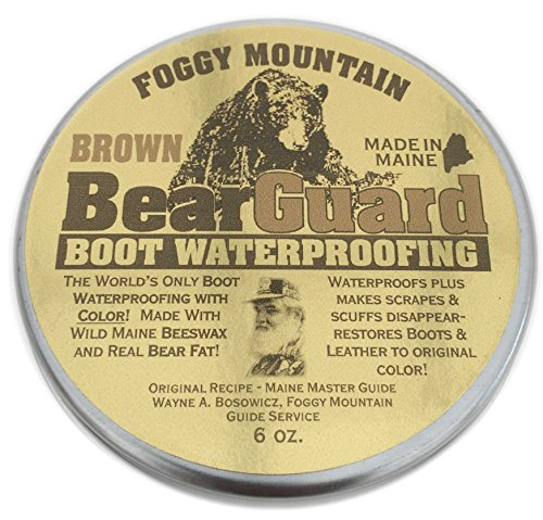 Bear Guard Brown - Boot and Leather Waterproofing with Color - Beeswax and Bear Grease (Bear Mountain Boots compare prices)