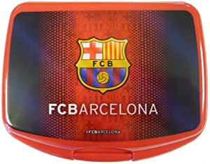 FC Barcelona Brotdose Snack POT Lunch box Messi Brot Dose EDEL NEU 2013