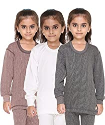 Vimal Premium Blended Multicolor Thermal Top For Girls(Pack Of 3)