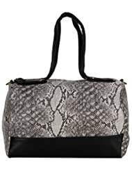 Aadaana Women's Handbag (Black And White, ADL-089)