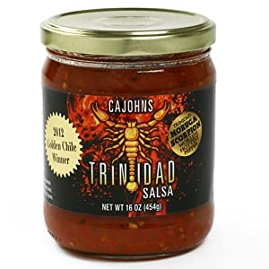 Trinidad Moruga Scorpion Salsa 16 Ounce by CaJohns