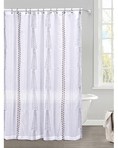 Duck River Textile Kettering Braid Shower Curtain, Grey/Mocha As You See