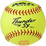 "Dudley ASA Thunder SY 12"" (.47) Fast Pitch Softball - Synthetic Cover - Pack Of 12, 12-Inch/Red Stitch"